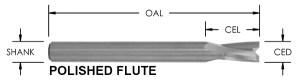 O Flute Low Helix Spiral Upcut Bit, CNC Router Bit, Plastic Bits