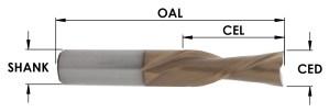 2 Flute Spiral Downcut MOAB