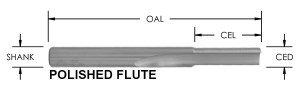 O Flute Straight Bit, (1 Flute)