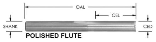 O Flute Straight Bit 2 Flute, CNC Router bit