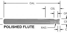 Polished Straight Rounding Edge Bit, CNC Router Bit, 2 Flute