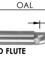 O Flute Spiral Downcut Bit, CNC Router Bit, Hard Plastic, Soft Plastic