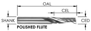O Flute Spiral Upcut Bit, CNC Router Bit