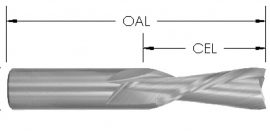 Spiral Downcut Bit, 2 Flute, Solid Carbide CNC Router Bit