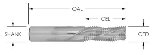 Rougher Spiral Downcut Bit (3 Flute), CNC Router Bit