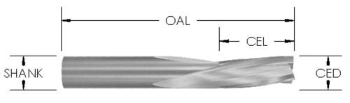 Solid Carbide Downcut Slow Spiral Bit, 3 Flute, CNC Router Bit