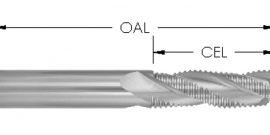 Spiral Upcut, 3 Flute, Rougher, CNC Router Bit