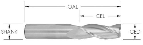 Solid Carbide Spiral Upcut Bit 3 Flute, CNC Router Bit
