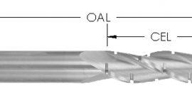 Solid Carbide Spiral Upcut, 3 Flute, Chipbreaker, CNC Router Bit