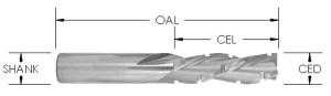 Chipbreaker Spiral Downcut Bit, 3 Flute,