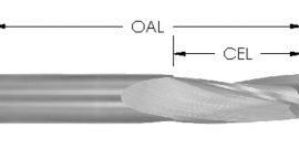 Solid Carbide Slow Spiral Upcut Bit, CNC Router Bit