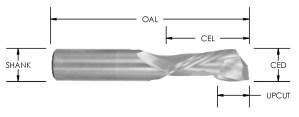 Solid Carbide Compression Bit (1+1), CNC Router Bit