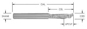Solid Carbide 1+1 Compression Bit, Left Hand, CNC Router Bit