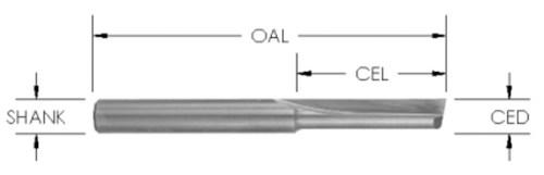Straight Bit (1 Flute) CNC Router Bit